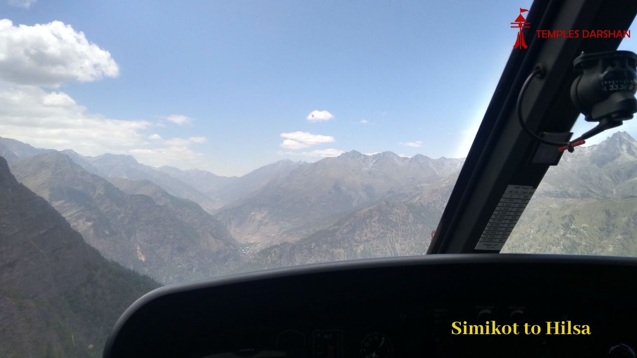 simikot to hilsa by heli